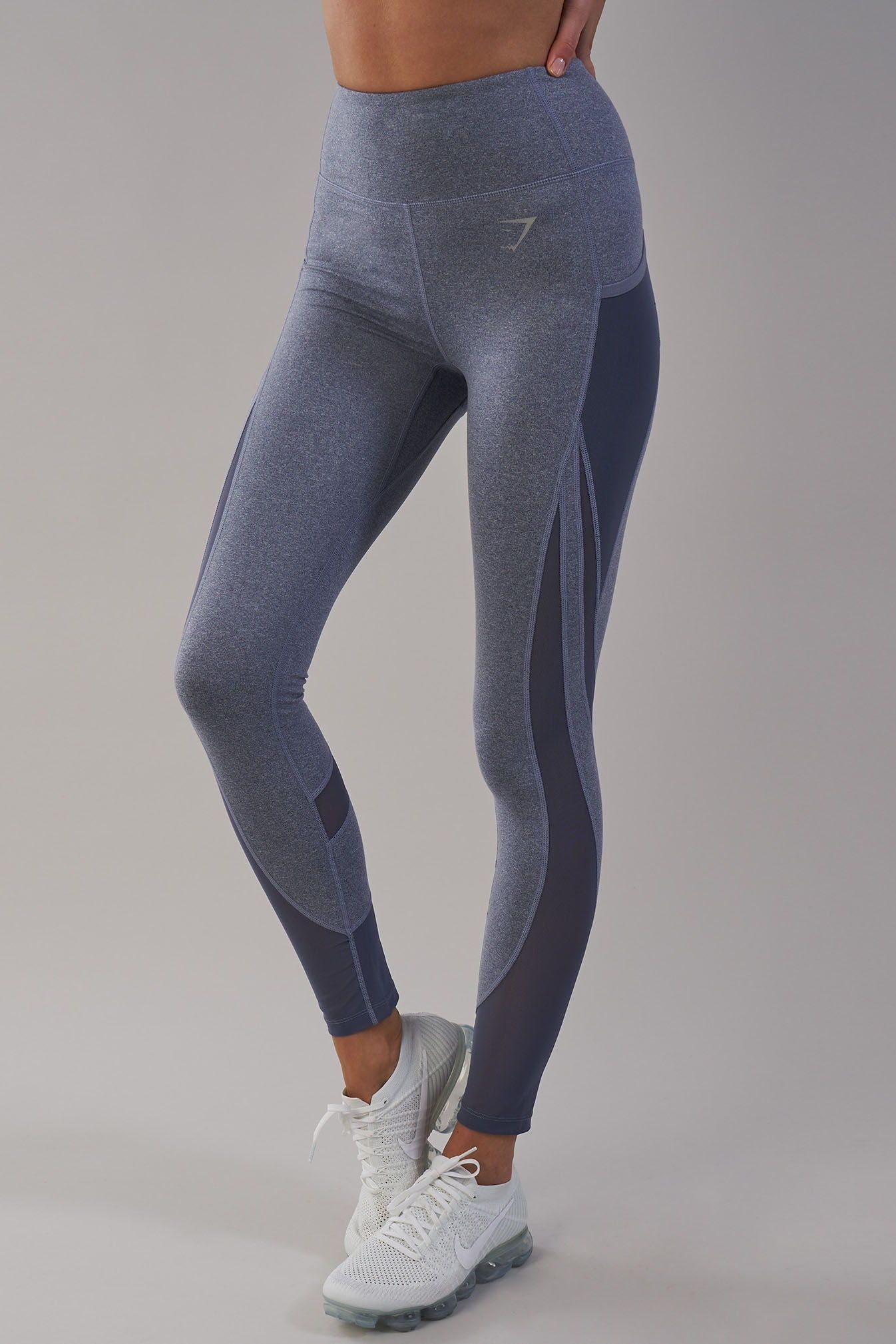 e78802e3105da Complete with subtle side pockets and reflective Gymshark logo, the Sleek  Sculpture Leggings 2.0 are now available in Steel Blue Marl.