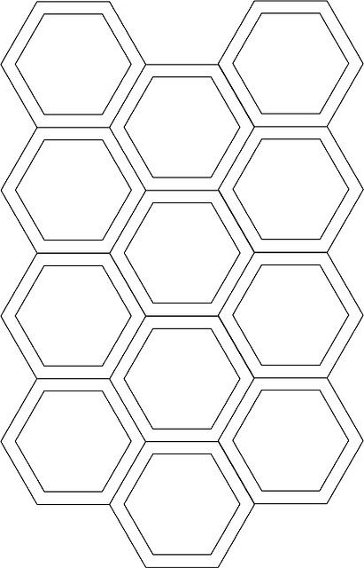 Hexagon Cutting Template  Cuttings