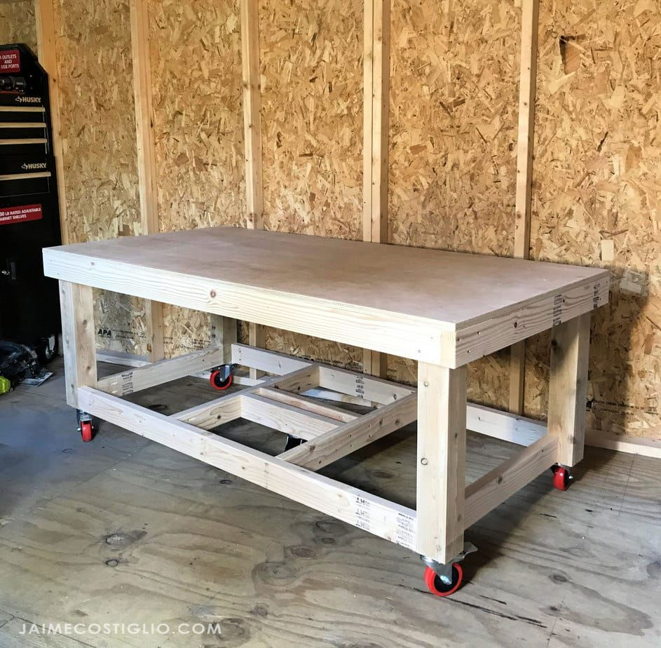 DIY Low Workbench Free Plans