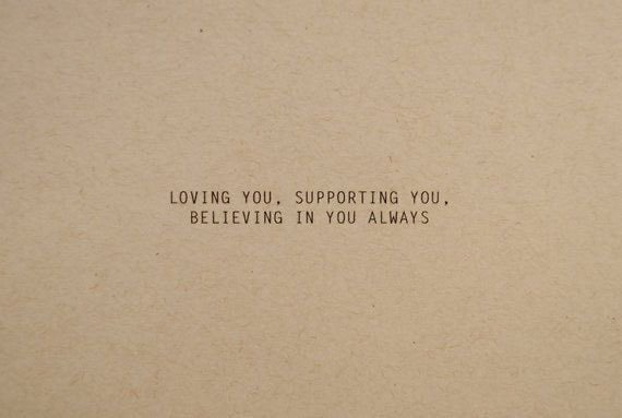 Loving Supporting Believing friendship card, birthday card for girlfriend, anniversary card for boyfriend, congratulations card - Boyfriend quotes - Birthday