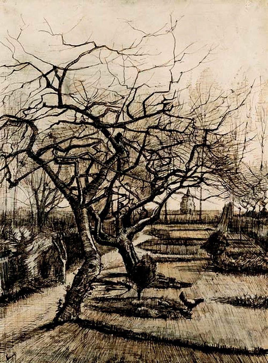 The Parsonage Garden at Nuenen in Winter by Vincent van Gogh, 1884 ...