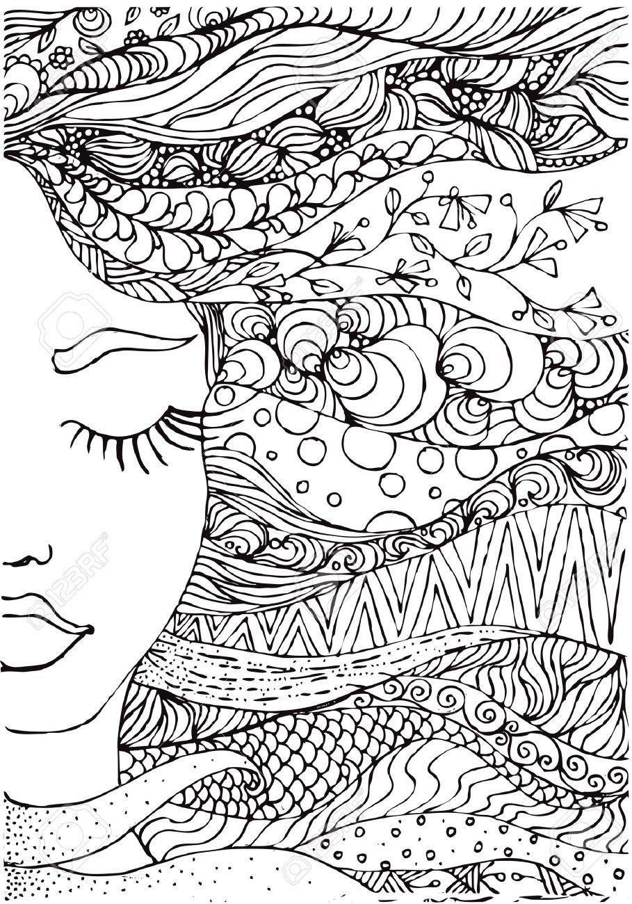 Resultado de imagen de mujeres para pintar adultos | Dibujos ...