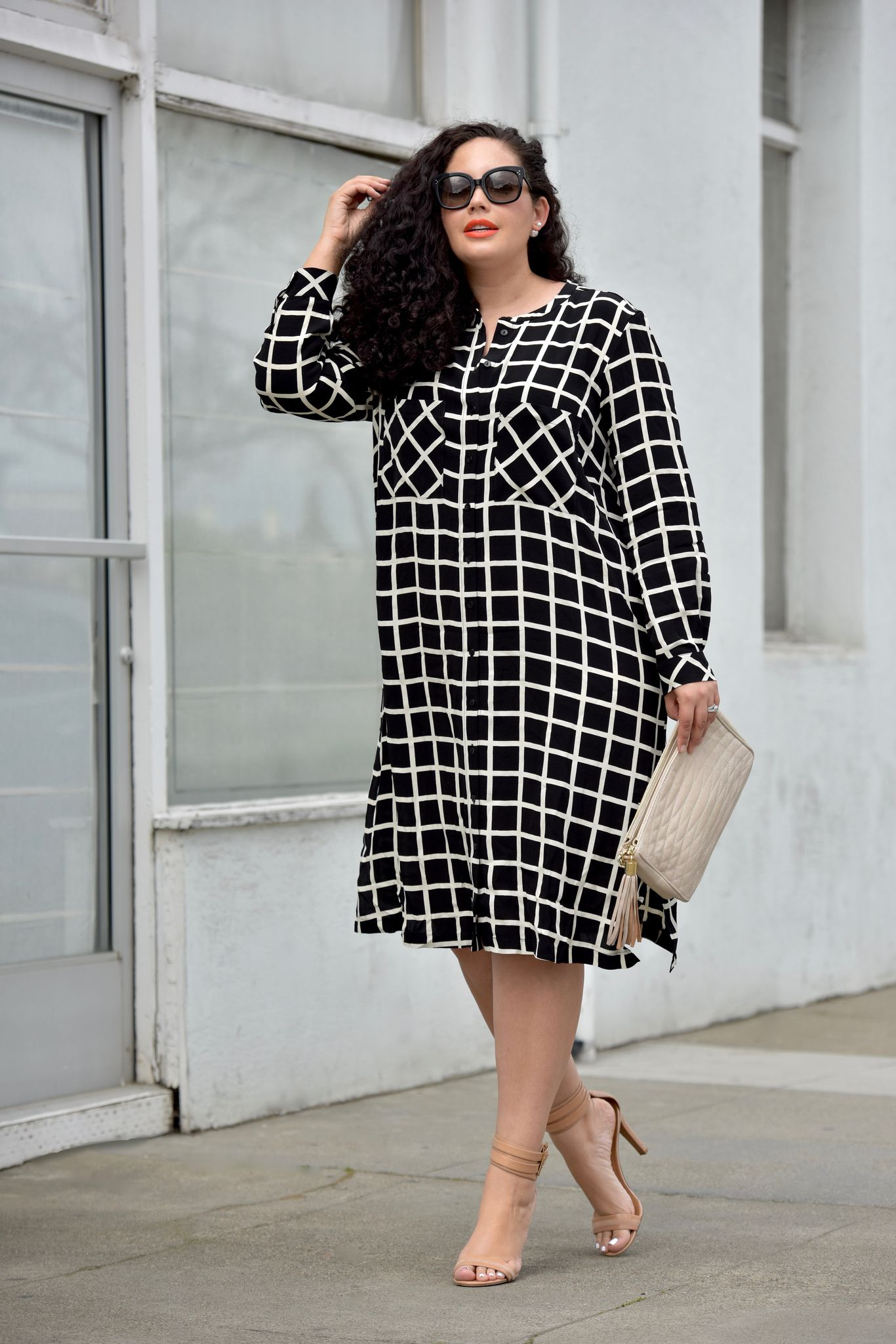 Grid Print Dress, Tanesha Awasthi