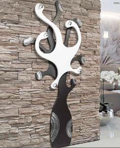 /Perchero de Pared dise/ño de Home Clave de Madera Negro Llaves Charming House Design Perchero de Pared de Estilo Shabby Chic/