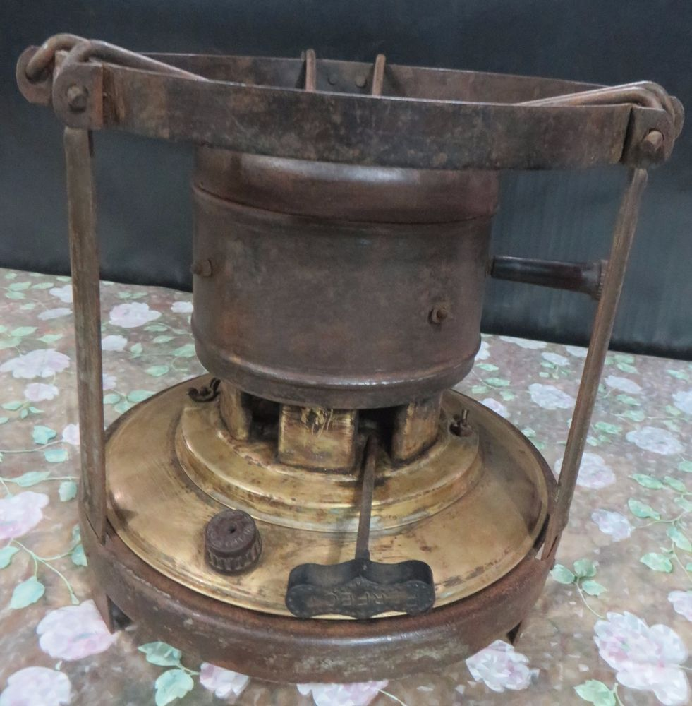 Antique kerosene camp stove HIGH SPEED COOKING FIREPIT wick Brass ... for Kerosene Cook Stove  585eri