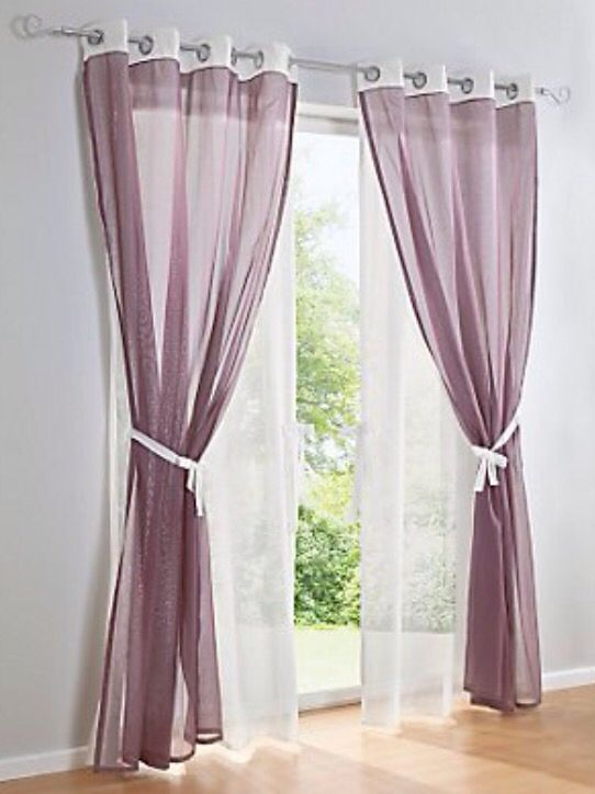 Gardine auf Ösen Home decor Pinterest - gardinen muster für wohnzimmer