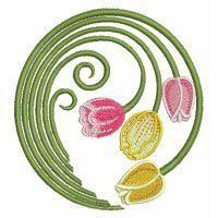 Spring Tulips - Wind Bell Embroidery | OregonPatchWorks