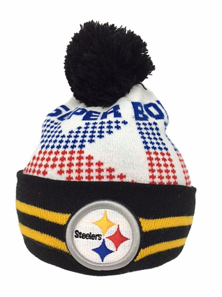 Nfl Super Bowl Knit Hat Pittsburgh Steelers Super Bowl Xiii