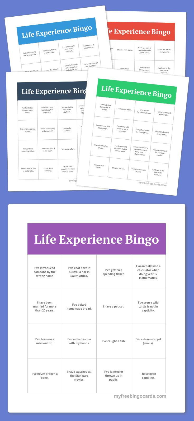 Free Printable Bingo Cards (With images) Bingo printable