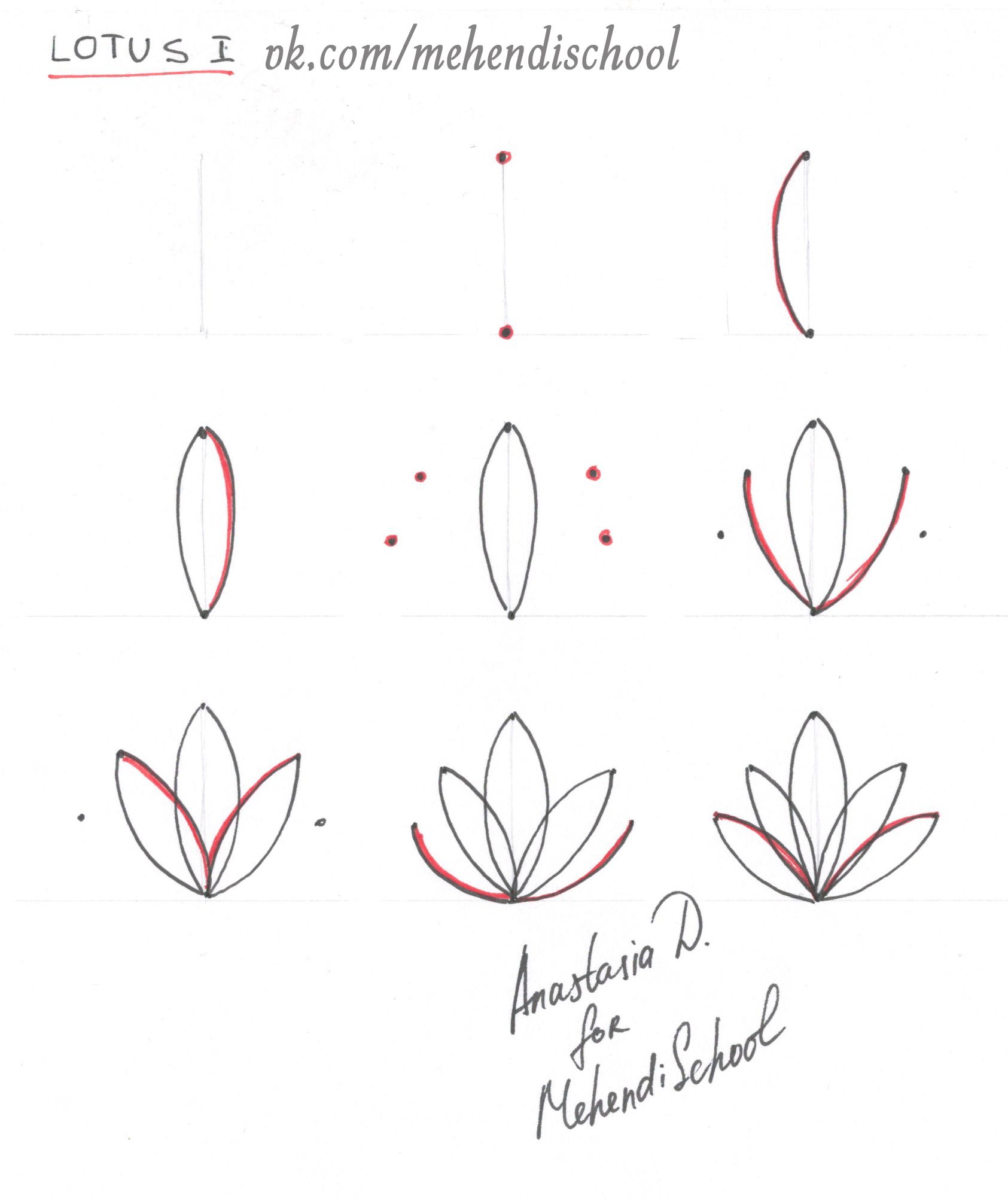How To Draw Classic Indian Mehndi Lotus Easy Tutorial Diy Henna