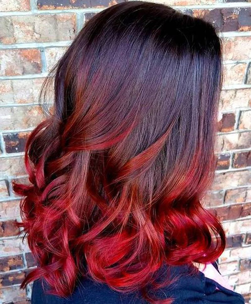 Cherry Ombre Hair Red Ombre Hair Brown Ombre Hair Black Hair Ombre