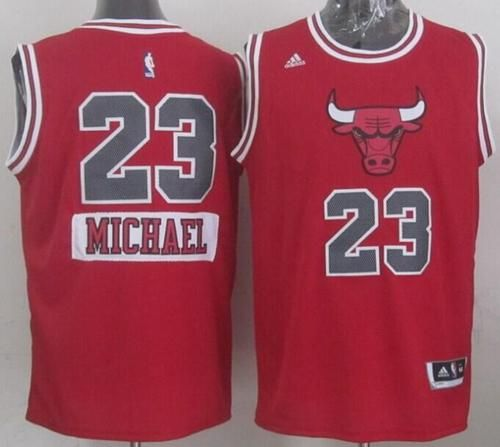 more photos 58213 5f41a Bulls #23 Michael Jordan Red 2014-15 Christmas Day Stitched ...