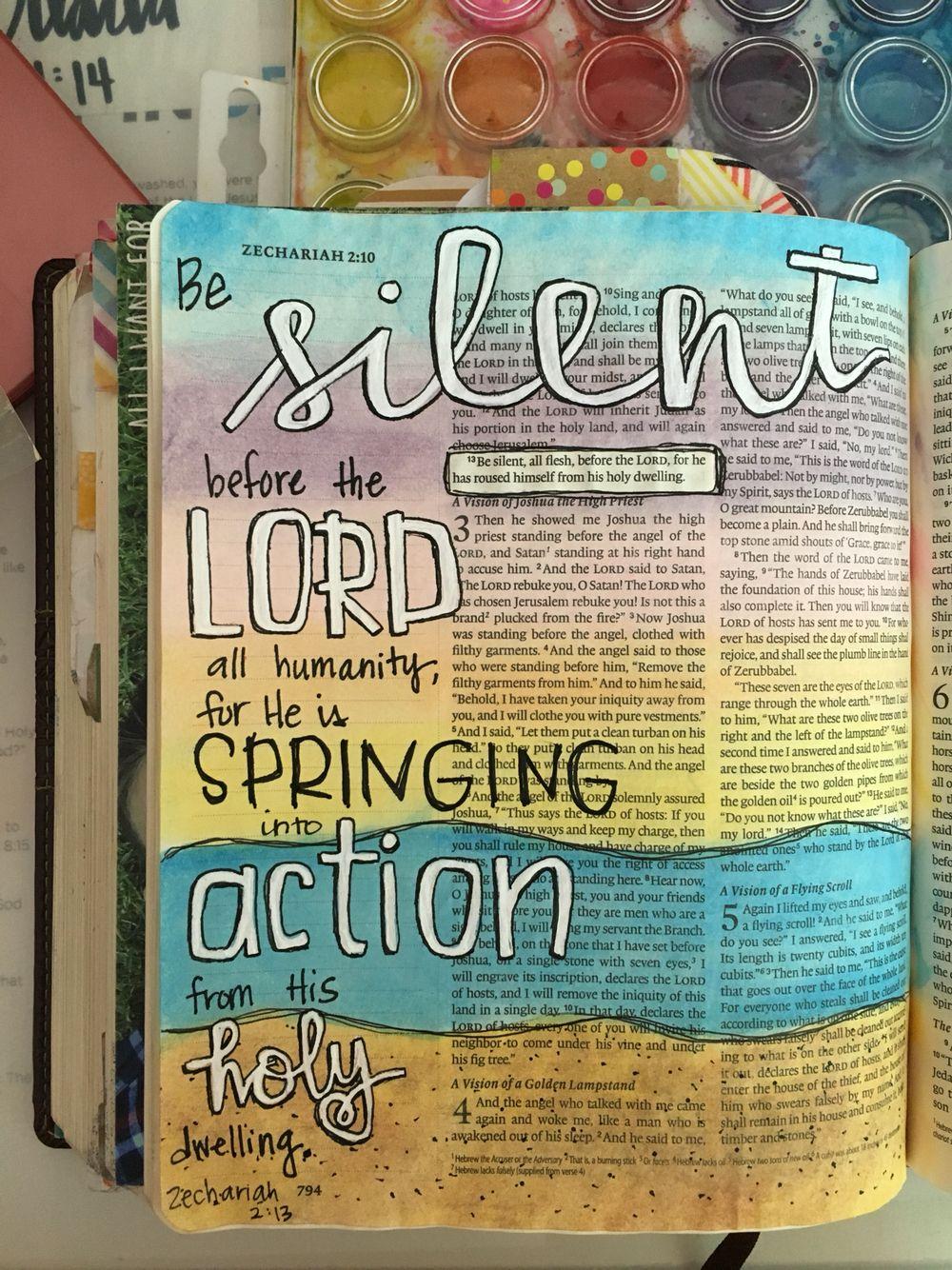 Zechariah 213 bowed.anchor.journaling Faith art Bible