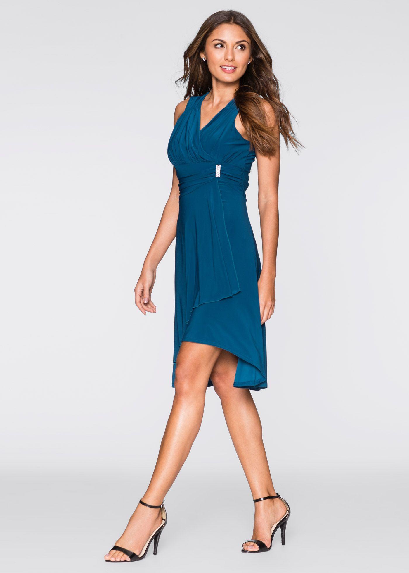 Kleid mit Applikation blau - BODYFLIRT jetzt im Online Shop von