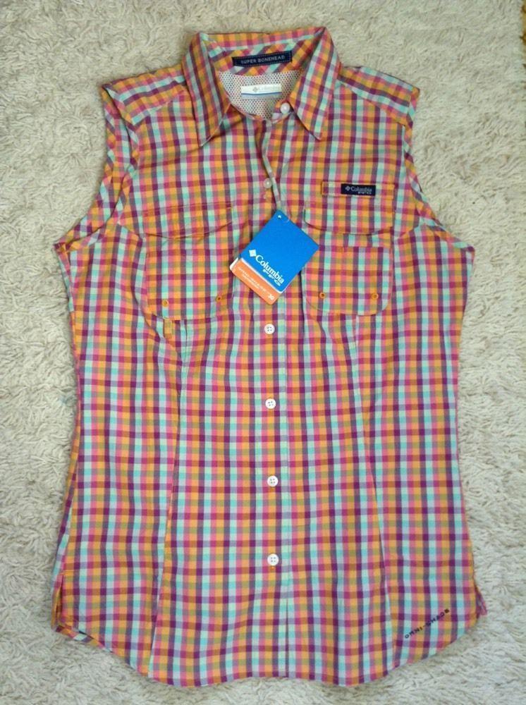 d94218928c4 COLUMBIA PFG SUPER BONEHEAD Sleeveless Shirt Womens SZ S Small NWT in Tops  & Blouses   eBay