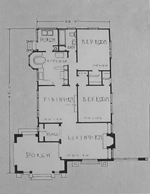 California Mission Spanish Bungalow House Plan 1923 Spanish Bungalow Spanish Style Homes Bungalow House Plans