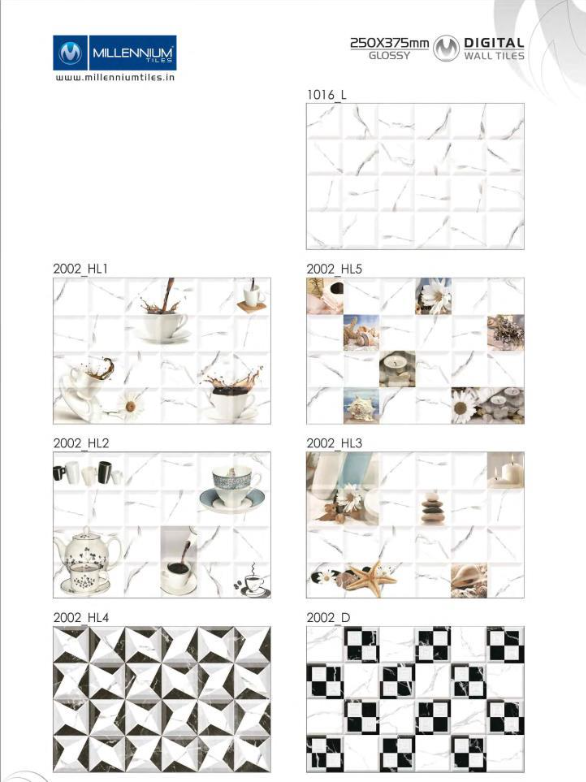 Kitchen Tile Design 2002 Millennium Tiles 250x375mm 10x15 Digital Ceramic Glossy Wall Tiles Series 20 Wall Tiles Ceramic Wall Tiles Kitchen Tiles Design
