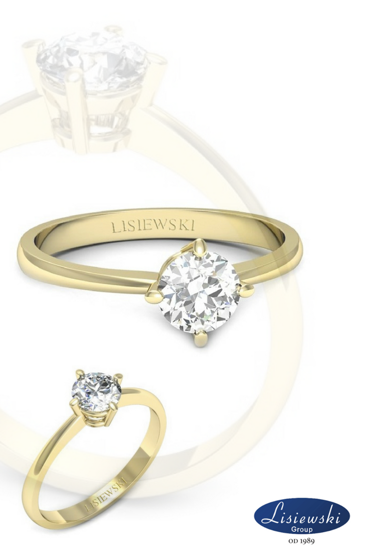 Pierścionek Zaręczynowy Z Diamentem Diamonds Goldrings