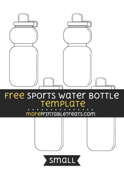 Free Sports Water Bottle Template - Small Shapes and Templates