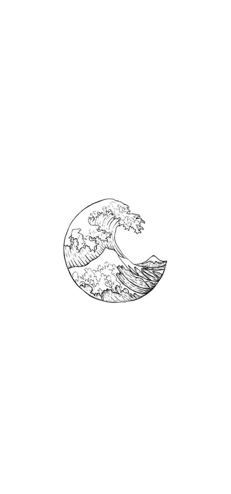 Yin Yang Waves Wallpaper Minimalist Wallpaper Black And White Wallpaper