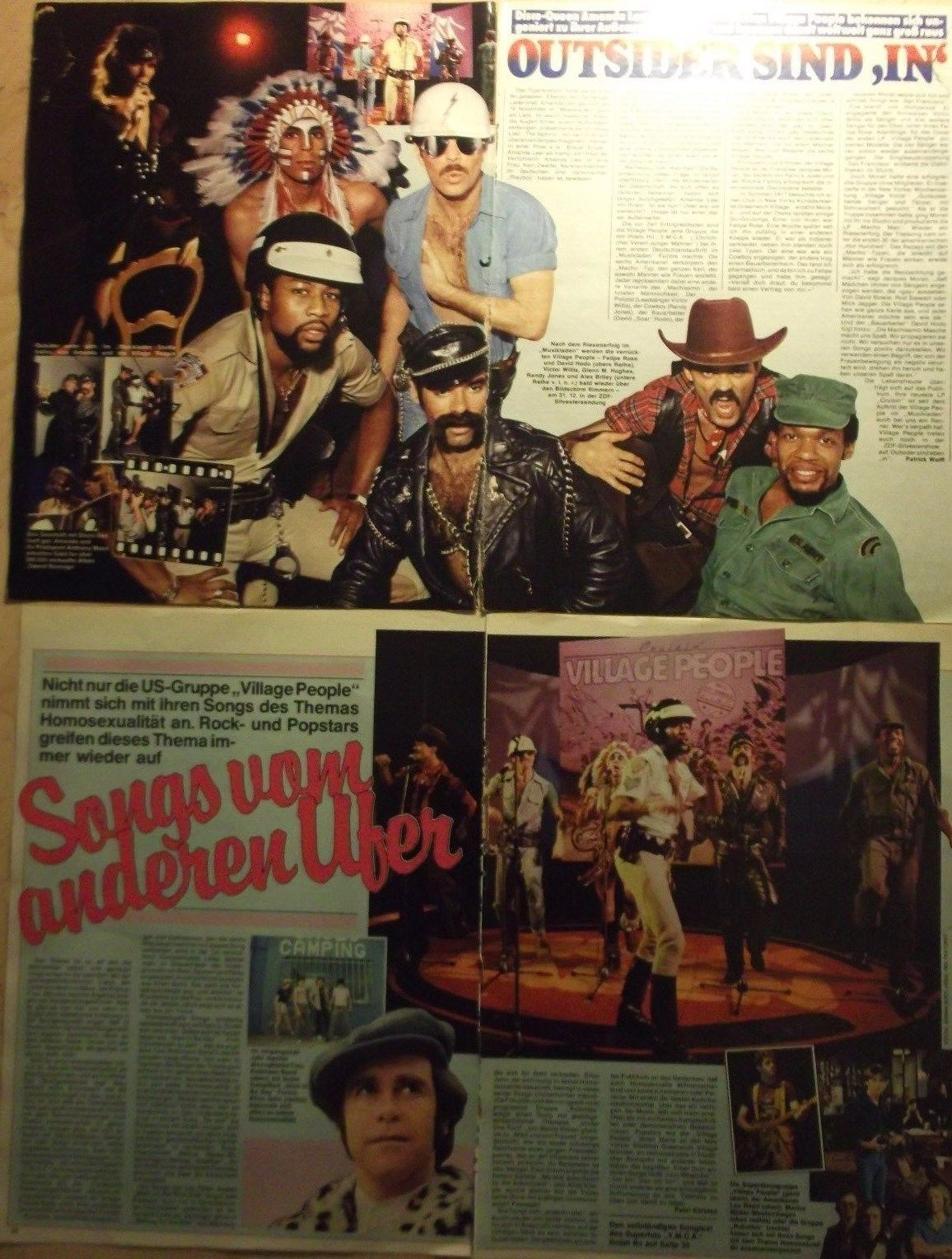 4 german clipping VILLAGE PEOPLE FEW SHIRTLESS GAY INT  BOY