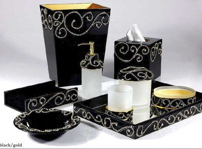 Mike U0026 Ally Mozart Crystal Embellished Bathroom Set, 30+ Colors Stylish And  Beautiful,