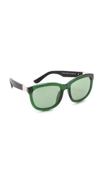 2a6e43de9706 Linda Farrow for The Row Leather Sunglasses