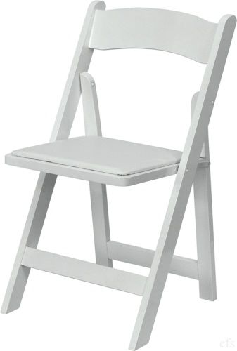 white wood folding chairs, padded wedding chairs for sale