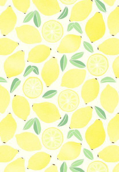 Summer lemons print and pattern pinterest cran for Print ecran