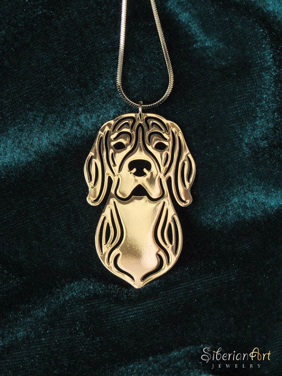 Beagle Jewelry Solid Gold Pendant And Necklace Dog Jewelry