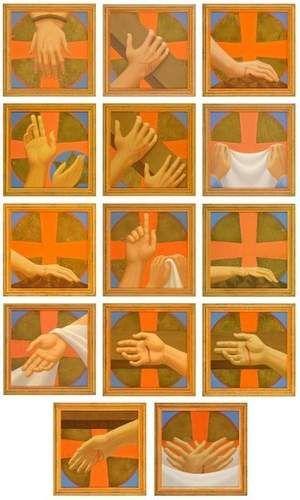 Vía crucis manos