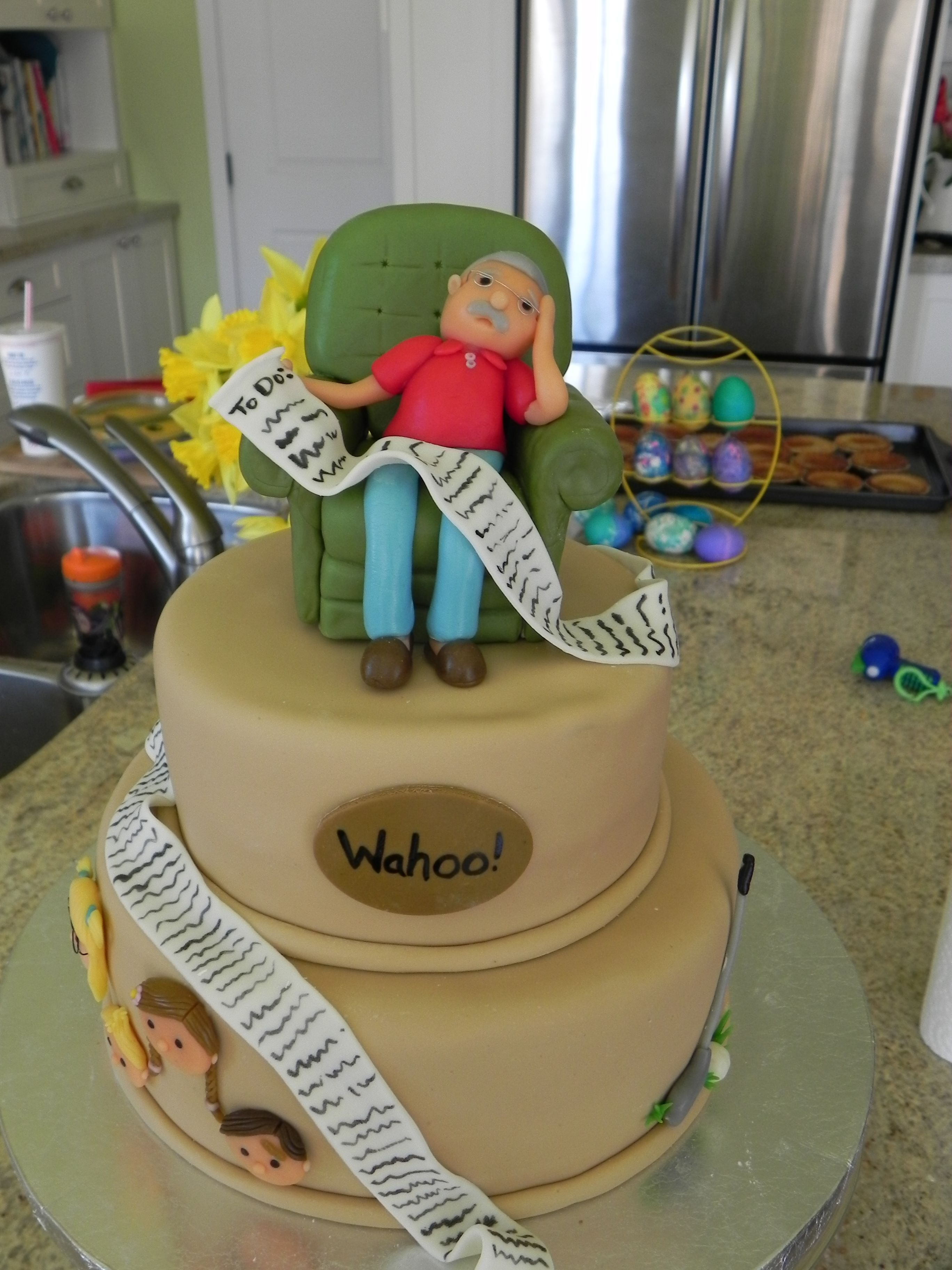 Amazing 75th Birthday Cake For Grandparent