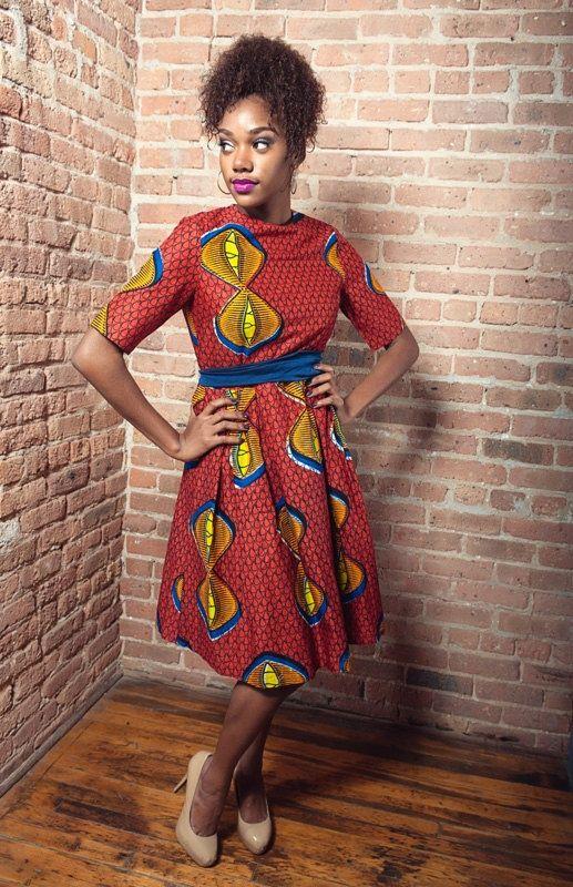 3e1ecef0ac African Print High Neck Dress