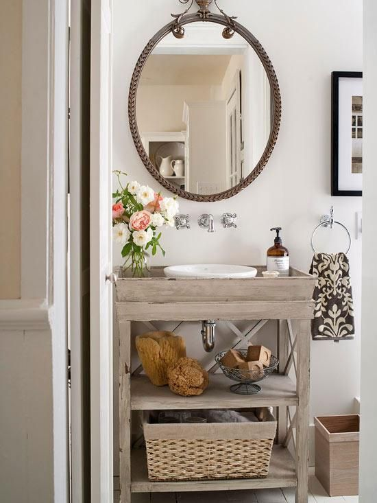 Superb Vanity From Repurposed Table Bath Design Pinterest Diy Home Interior And Landscaping Analalmasignezvosmurscom