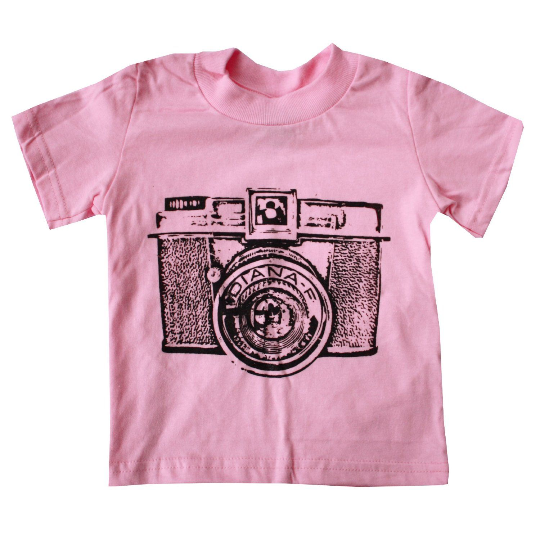 cbc1d81579ef Happy Family Retro Camera Light Pink Girls T Shirt