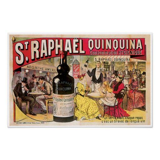 St. Raphael Quinquina Vintage Wine Ad Art Posters