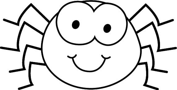 Black White Cartoon Spider Coloring Page Get Rid Of Spiders Spider Coloring Page Orange Spider