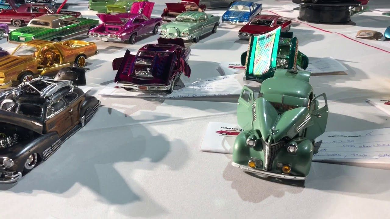 Lowrider Model Cars At Petersen Auto Museum Valley Con 2018 Youtube Lowrider Model Cars Car Model Lowriders