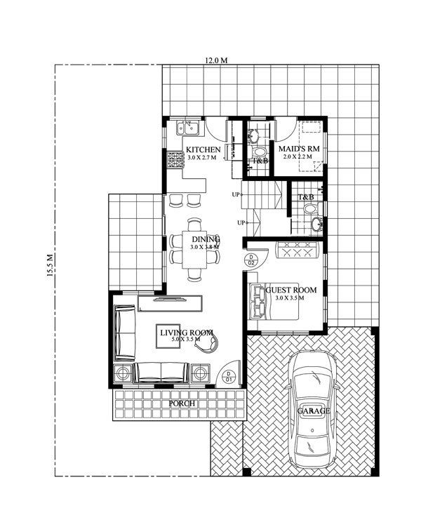 Specifications beds baths floor area sq  lot garage bedroom design which can be constructed in    house plans also rh nl pinterest