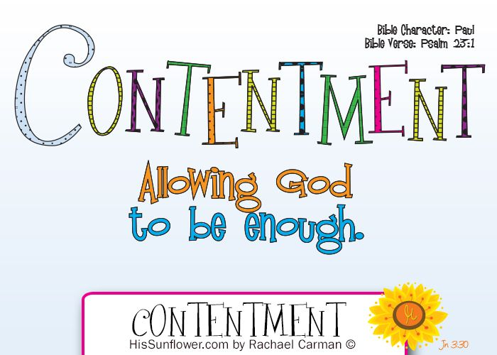 Image result for contentment in the bible