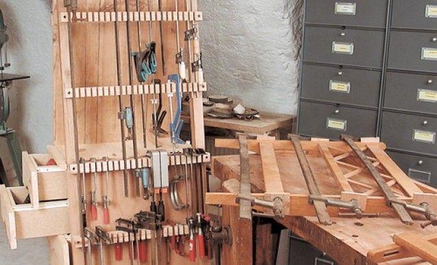 fabriquer un rangement pour serre joints garage atelier pinterest rangement atelier et. Black Bedroom Furniture Sets. Home Design Ideas