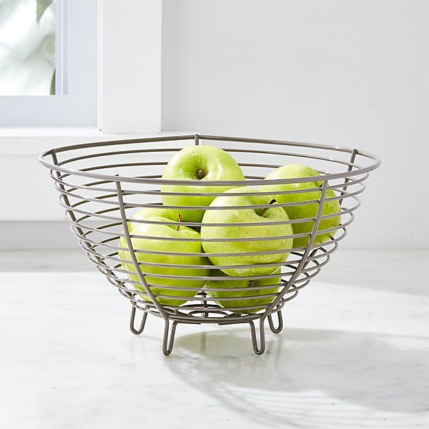 Carter Grey Wire Fruit Basket Crate And Barrel Wire Fruit Basket Tiered Fruit Basket Fruit Basket