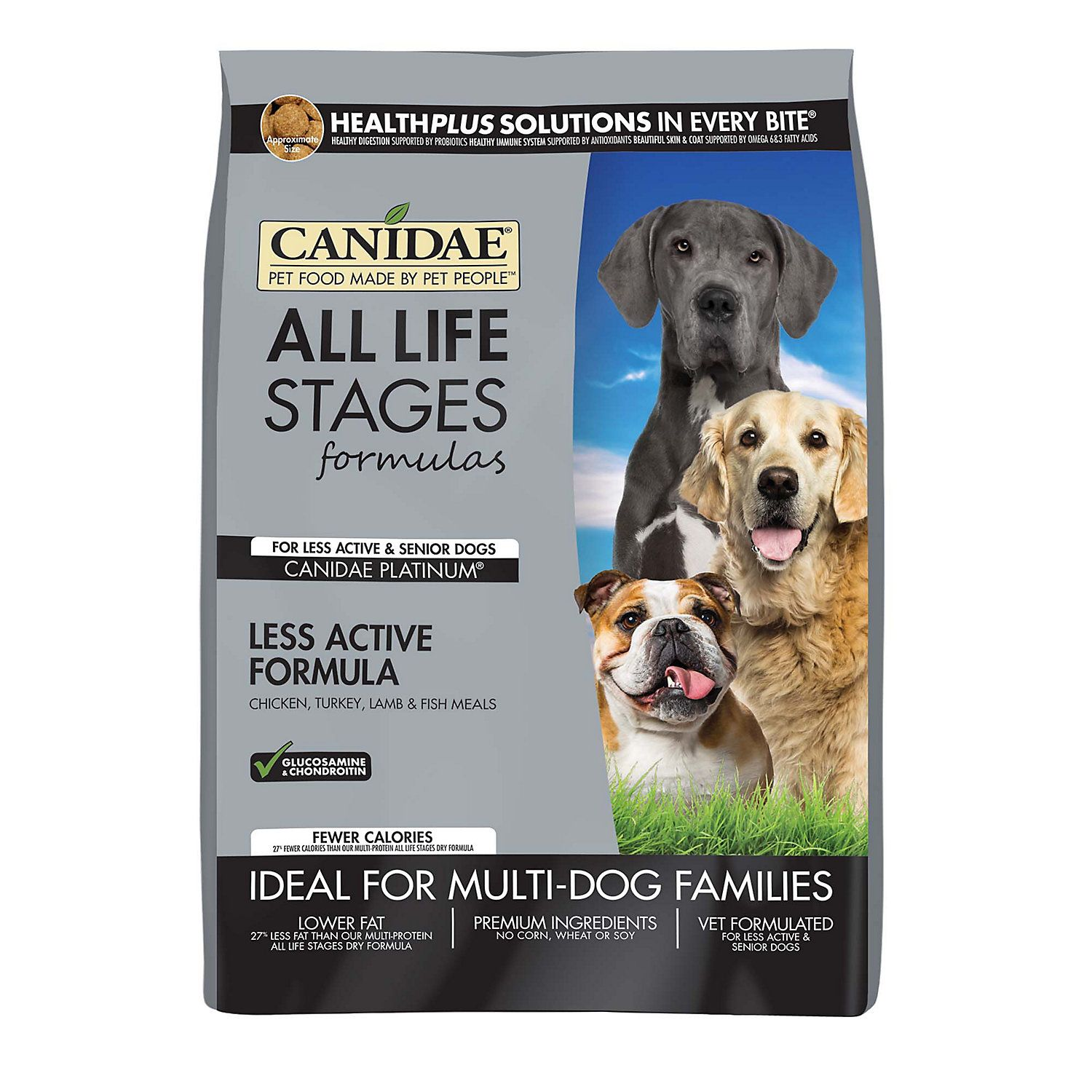 Canidae All Life Stages Platinum Less Active Multi Protein Formula