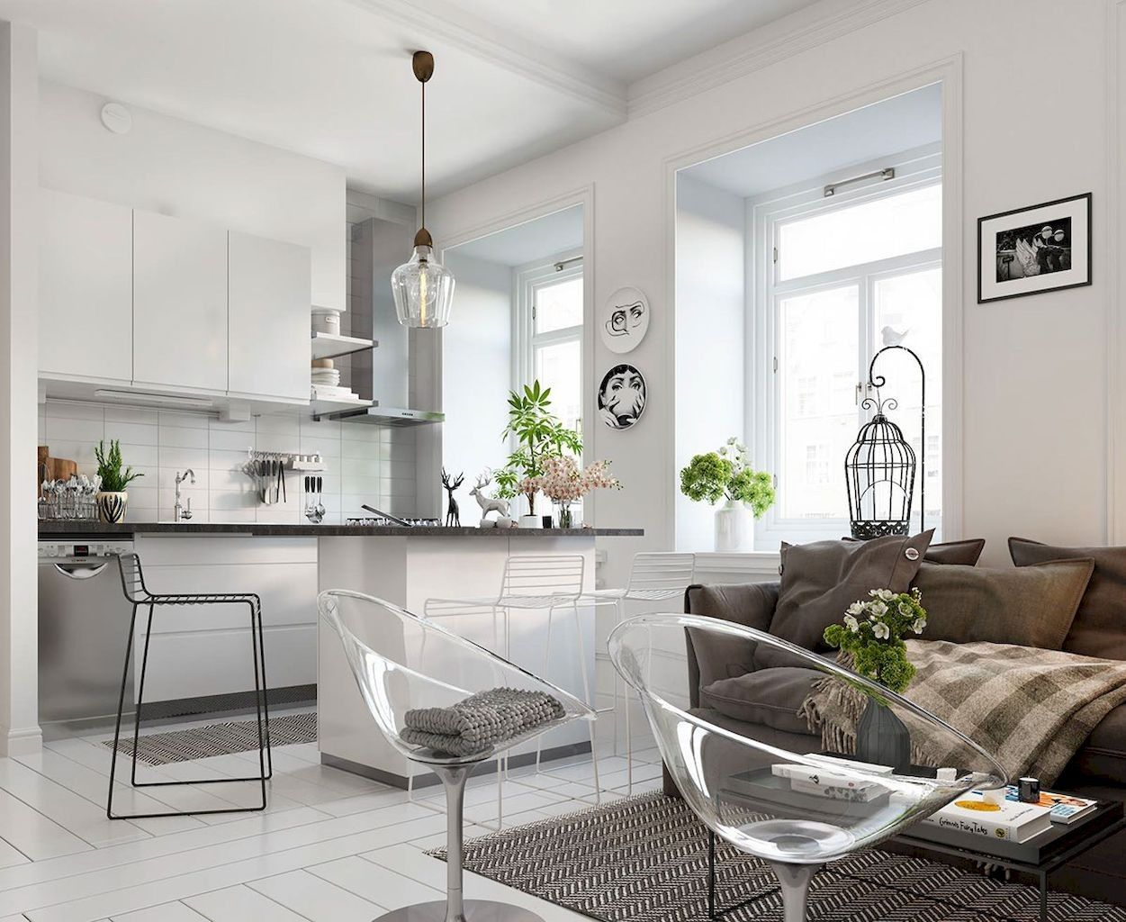 60 Awesome Scandinavian Style Apartment Decor Ideas In 2020 Small Apartment Design Scandinavian Design Bedroom Scandinavian Living Room Small