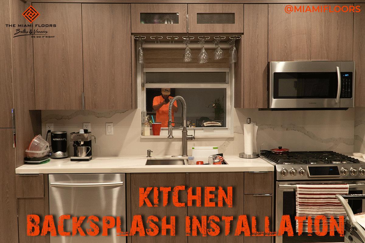 - 4-inch #backsplash #installation In The #kitchen Is Highly