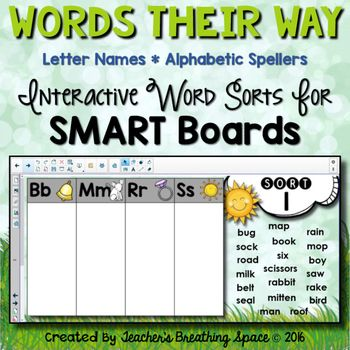 Words Their Way Letter Name Alphabetic Sorts 150 For SMART