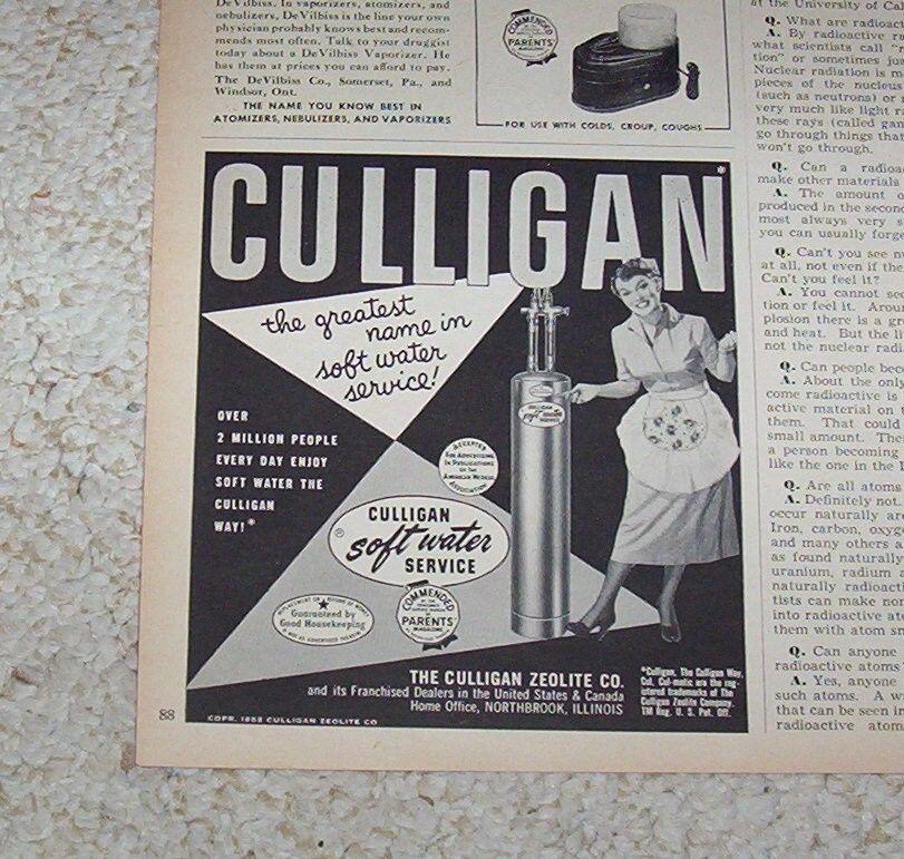 1952 Vintage Ad Culligan Soft Water Service Zeolite Northbrook Illinois Advert Ebay Culligan Retro Ads Vintage Ads