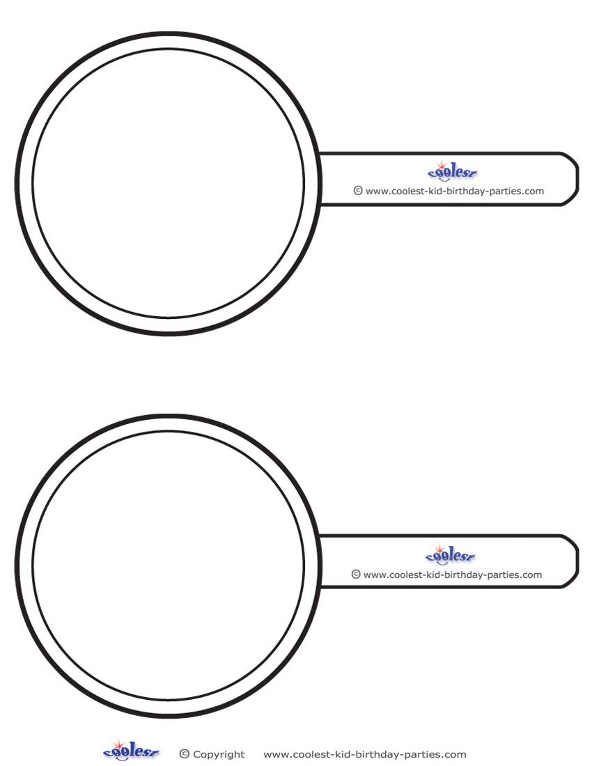Blank Printable Magnifying Glass Invitations