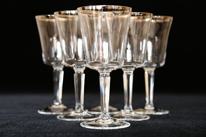 91a42e58886b Lenox Platinum Rim Crystal Water Glasses
