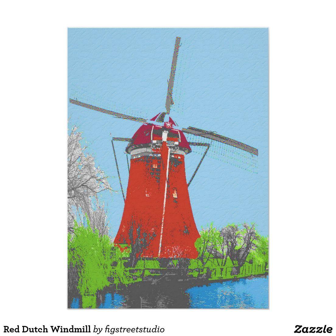 Red Dutch Windmill